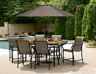 Patio Furniture Discounted 70 Garden Oasis East Point 7 Pc