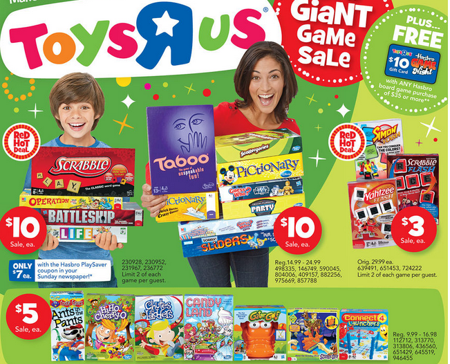 Board Games Toys R Us : Toys r us hasbro board games deals coupons hot deal
