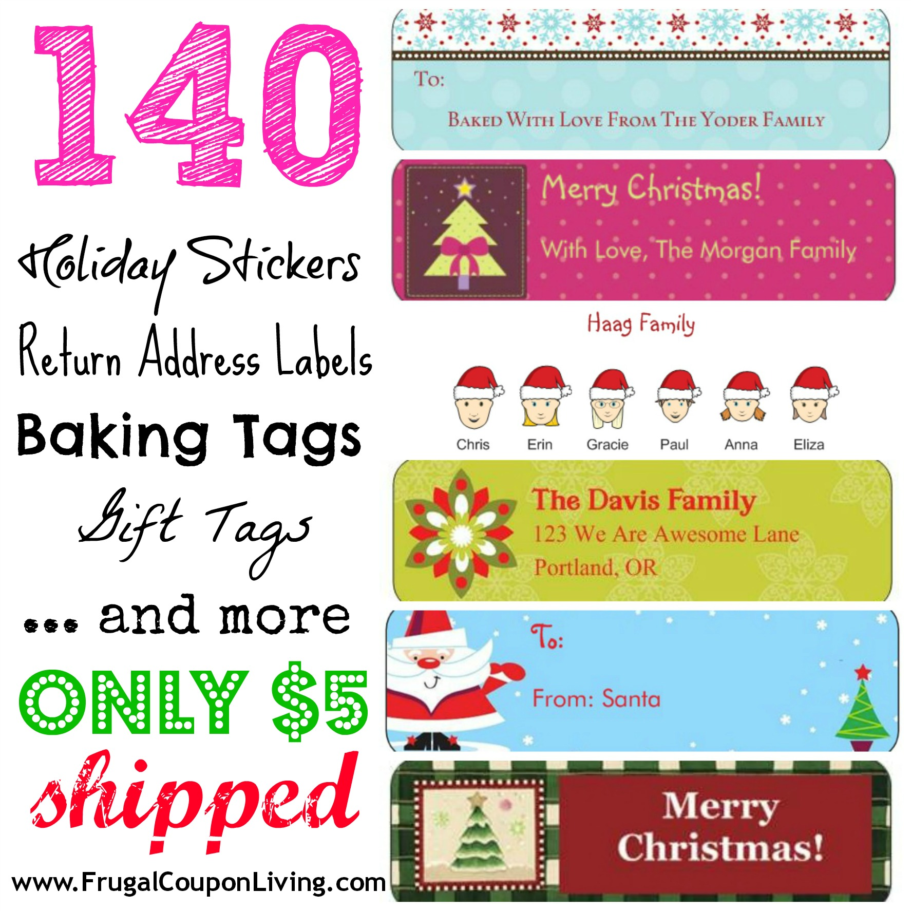 FREE Return Address Labels 140 Labels for 5 Shipped 3 Days Only – Vistaprint Baby Announcements