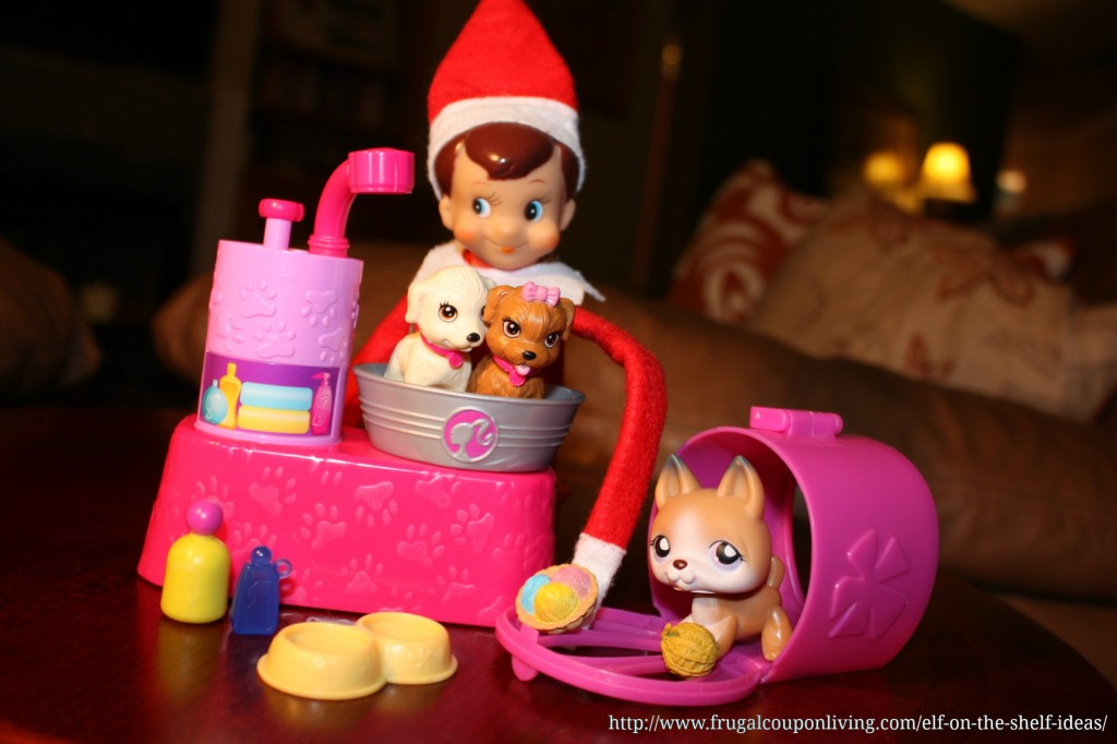 elf-on-the-shelf-ideas-barbie-pets