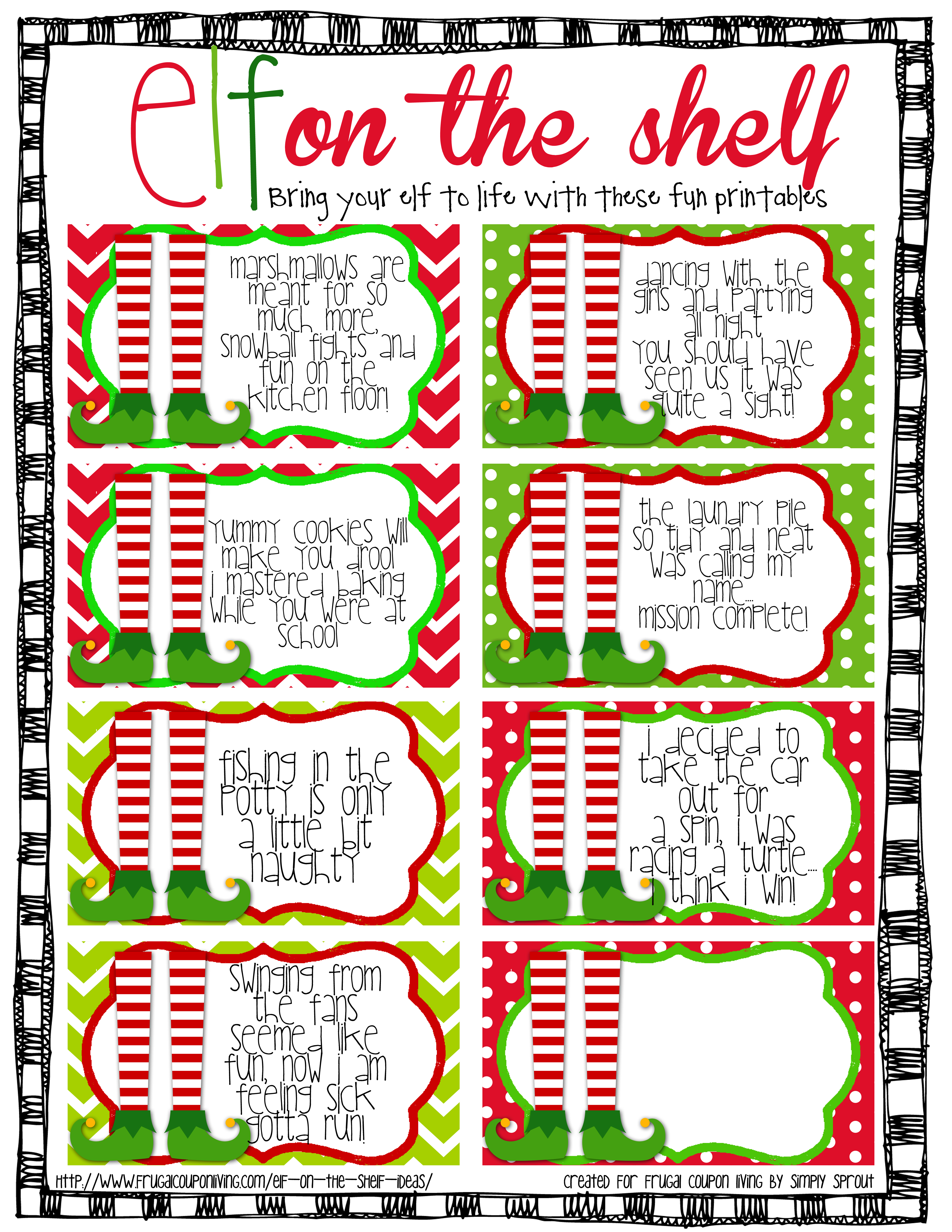 elf on the shelf ideas archives page of frugal coupon living here at frugal coupon living we celebrate elf on the shelf for 2 months the month of and the month of all the way through christmas eve