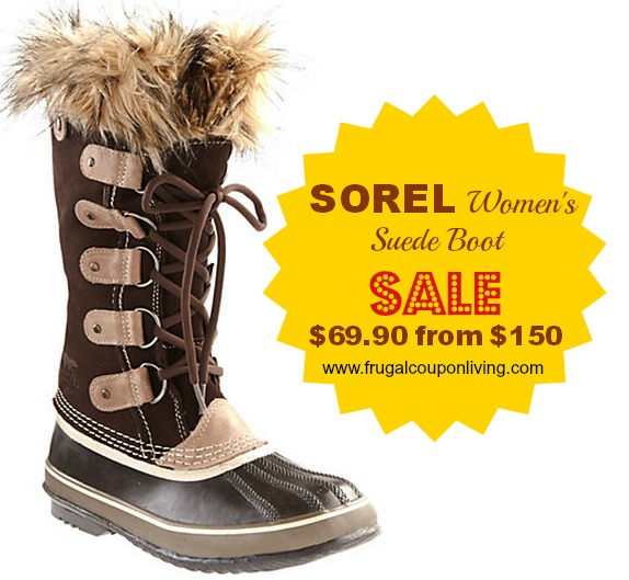 Sorel is taking up to 70% off Retail off select Bootswith Code: