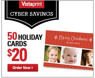 vistaprint cyber monday - Vistaprint Holiday Cards