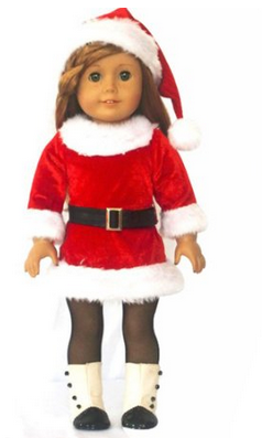 American girl christmas outfit santa dress for 9 99