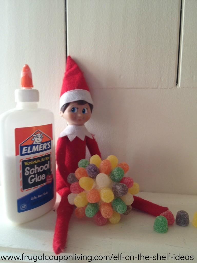 Easy The Elf On The Shelf Ideas Elf Makes Gum Drop Ball