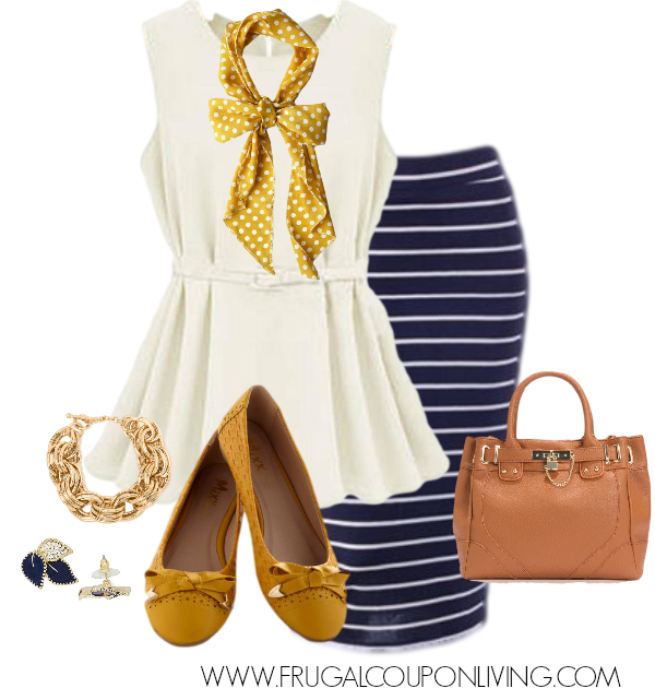 frugal-fashion-friday-gold-navy-outfit