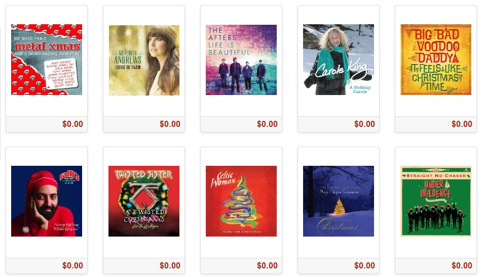 Amazon's 25 Days of Free Holiday Songs 2013 - FREE MP3 Daily 12/12