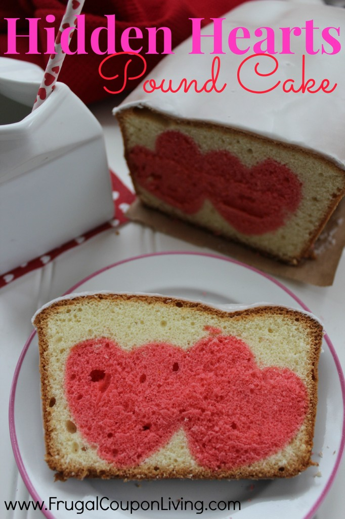 Hidden hearts pound cake recipe valentine 39 s day food craft for Valentine cake recipes with pictures