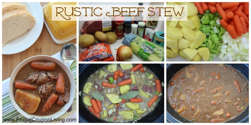 Rustic Beef Stew Collage Frugal Coupon Living