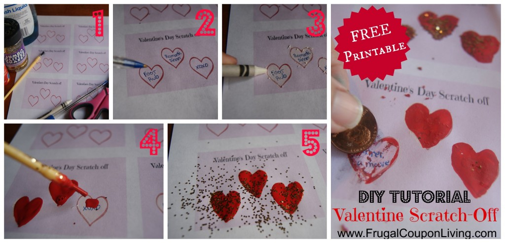 DIY Valentine Series Valentines Day ScratchOff Tickets – Scratch off Valentine Card