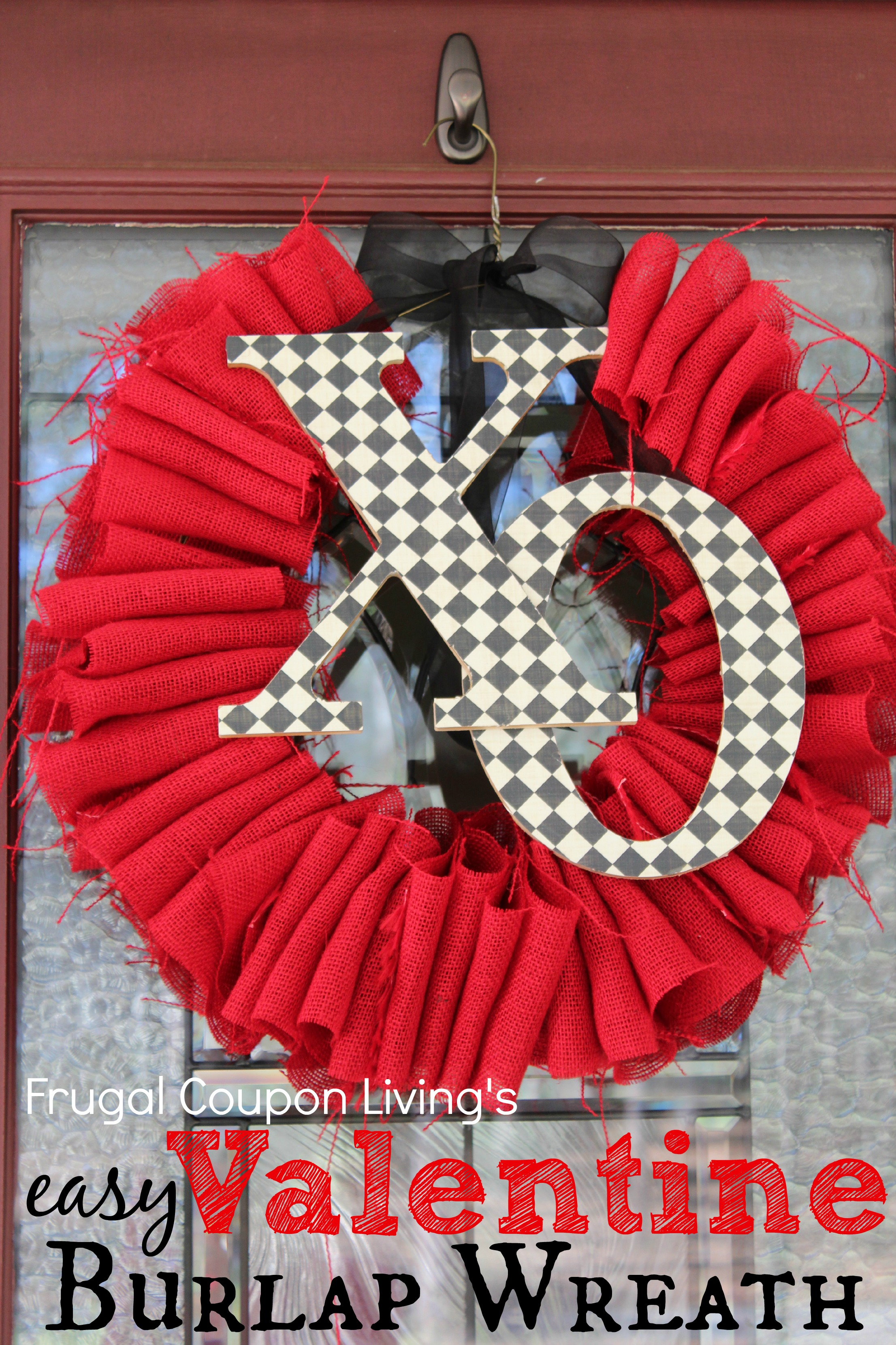 Easy Valentine Burlap Wreath Tutorial Frugal Craft For
