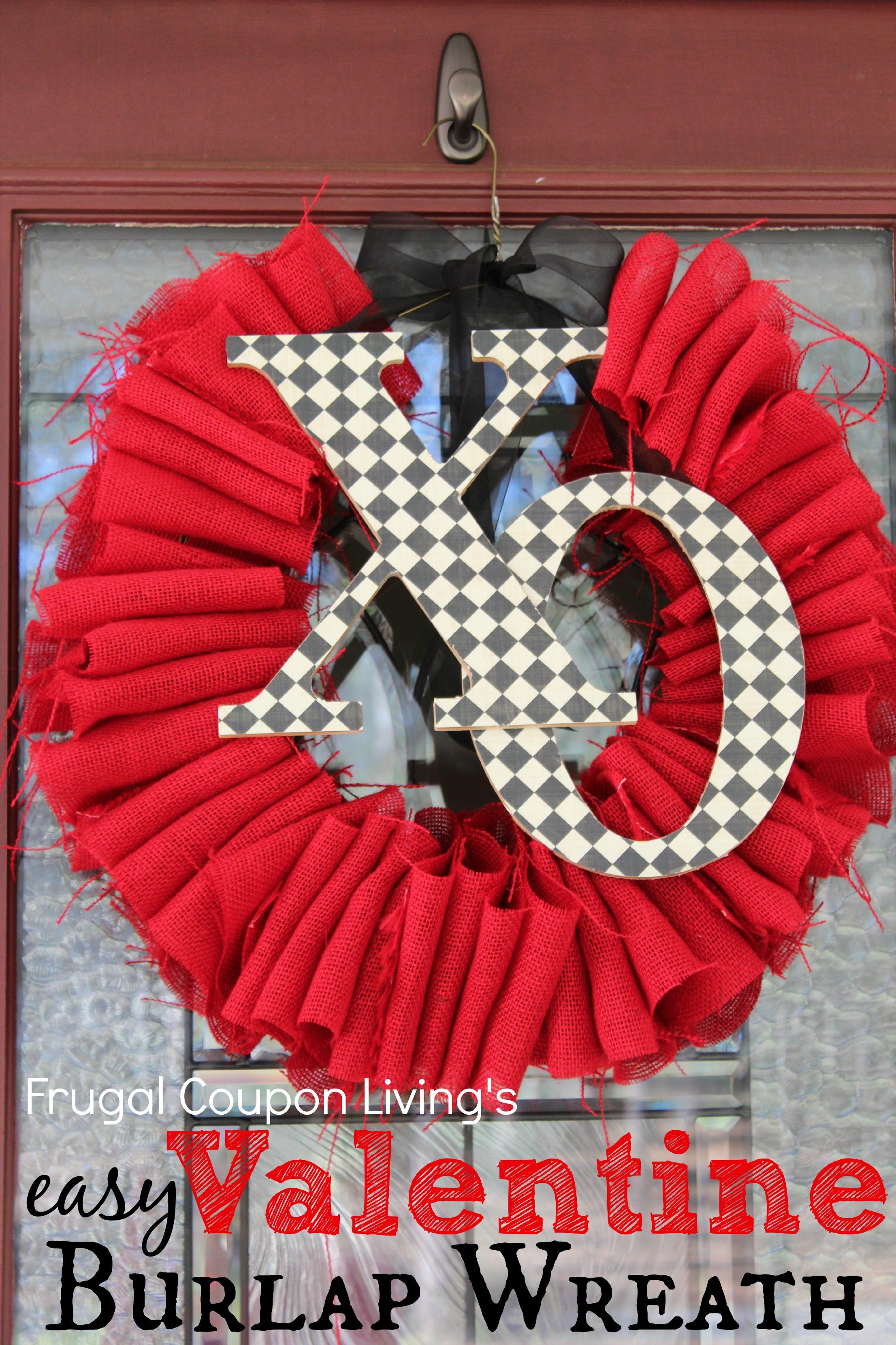 Easy Valentine Burlap Wreath Tutorial Frugal Craft For