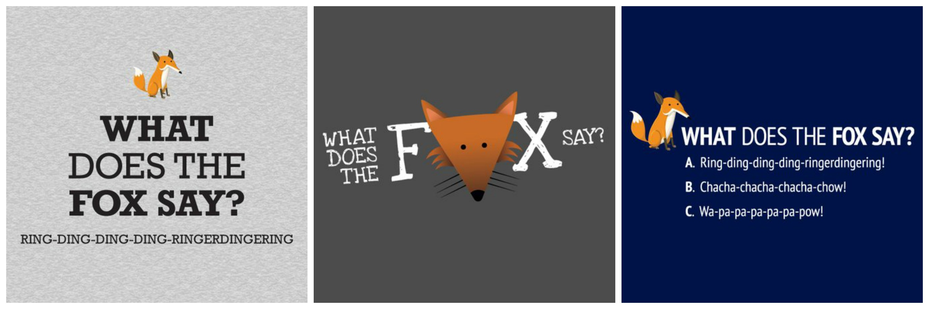What does the fox say t shirt 14 95 apps directories