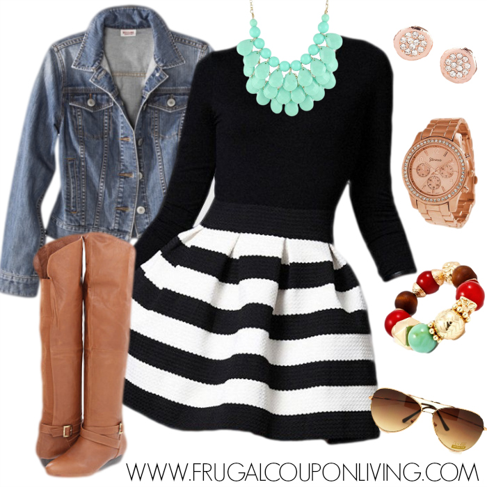 Black And White Outfits: Fashion Friday Black And White Dress Outfit