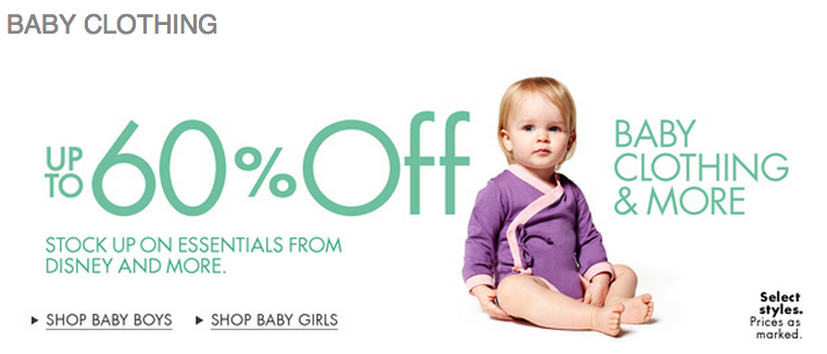 Baby Clothing Sale Save up to 60% Off Baby Clothing & More