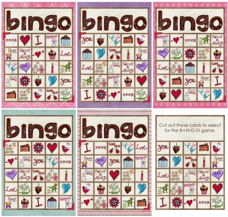 photograph regarding Printable Valentine Bingo Cards called Free of charge Valentine Bingo Printable Excess No cost Valentines