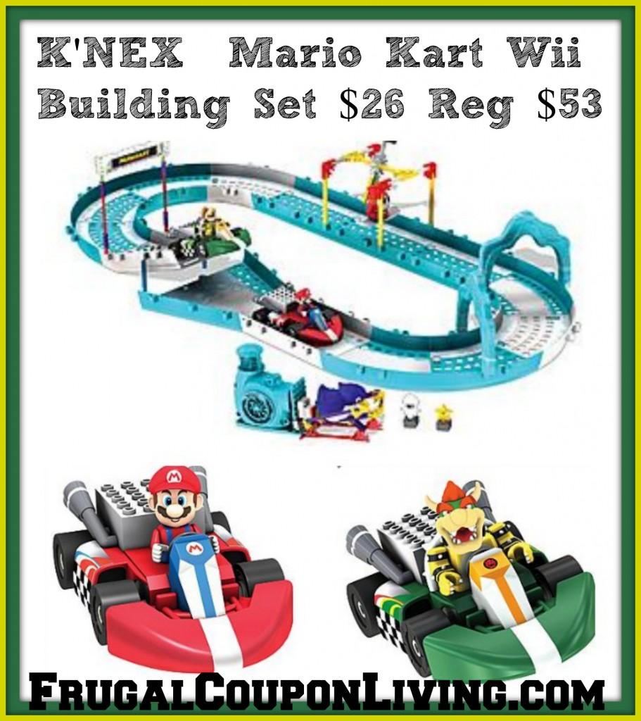 K'NEX Mario Kart Wii Building Set: Mario & Bowser Ice Race