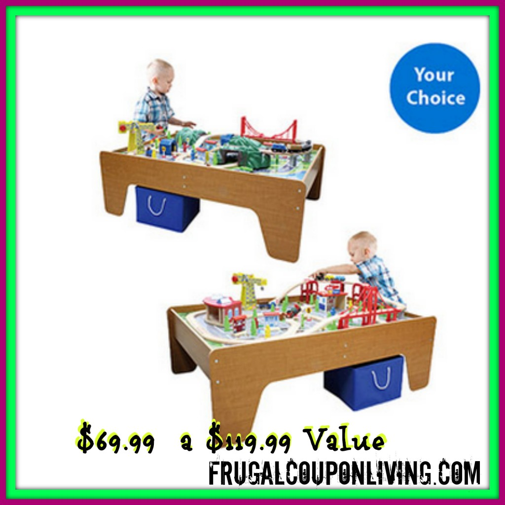 Cityscape or mountain wooden train set and table 69 from 120 for 100 piece cityscape train set and wooden activity table