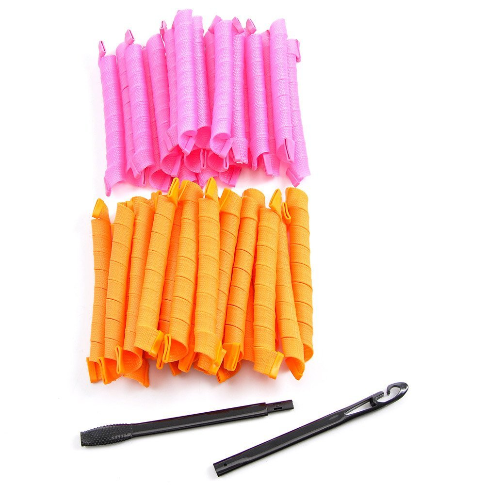 Extra Long Spiral Curlers Set Of 40 For 11 13