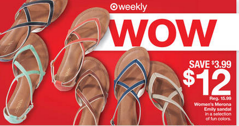 625104f52d2b Target latest coupon will make for a great deal when you pair with the  latest deal they have these Merona Emily Sandals. Just use the 15% off  Target shoes ...