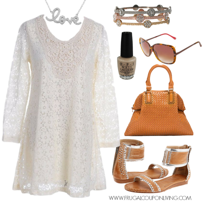 Frugal Fashion Friday Crochet Dress Outfit Polyvore Concept