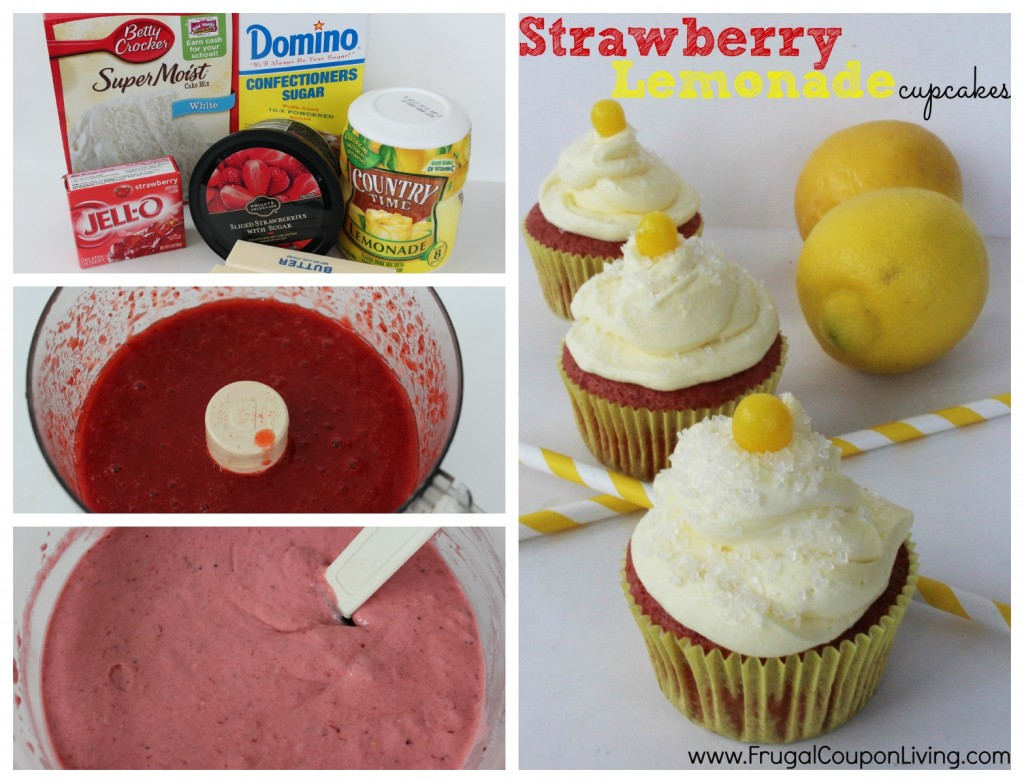 strawberry-lemonade-cupcakes-recipe-collage-frugal-coupon-living