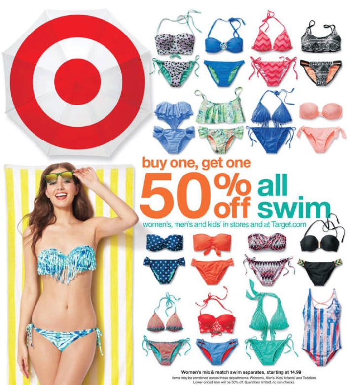 fefbe48bc9 Target is getting ready for Summer, and you maybe too after this snow melts  away! Target this week has great prices on great deals on Swimsuits and  Sandals!