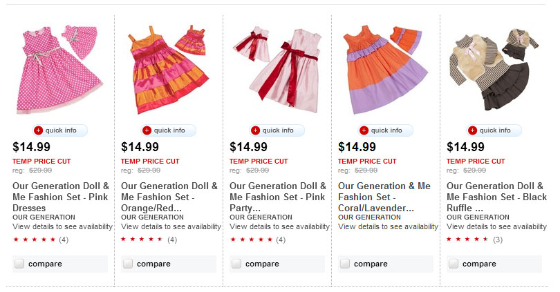 Our Generation Doll & Me Fashion Sets