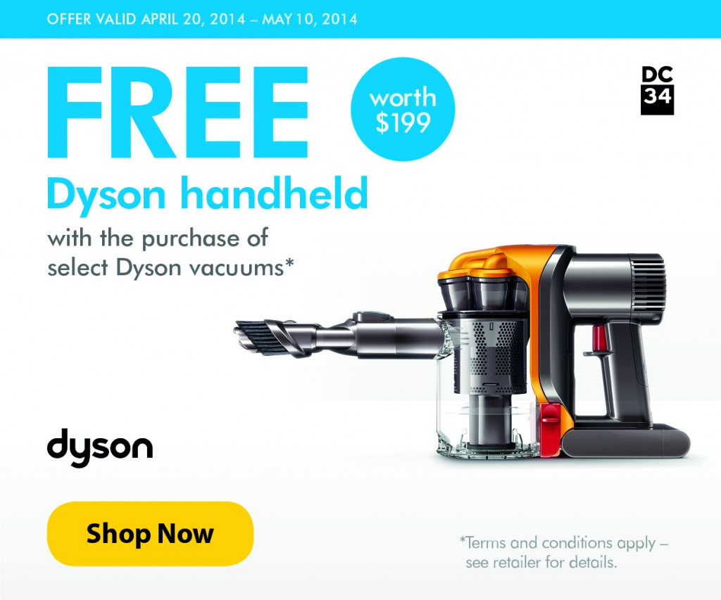 $100 off Dyson Coupons, Promo Codes + 3% Cash Back May 2019