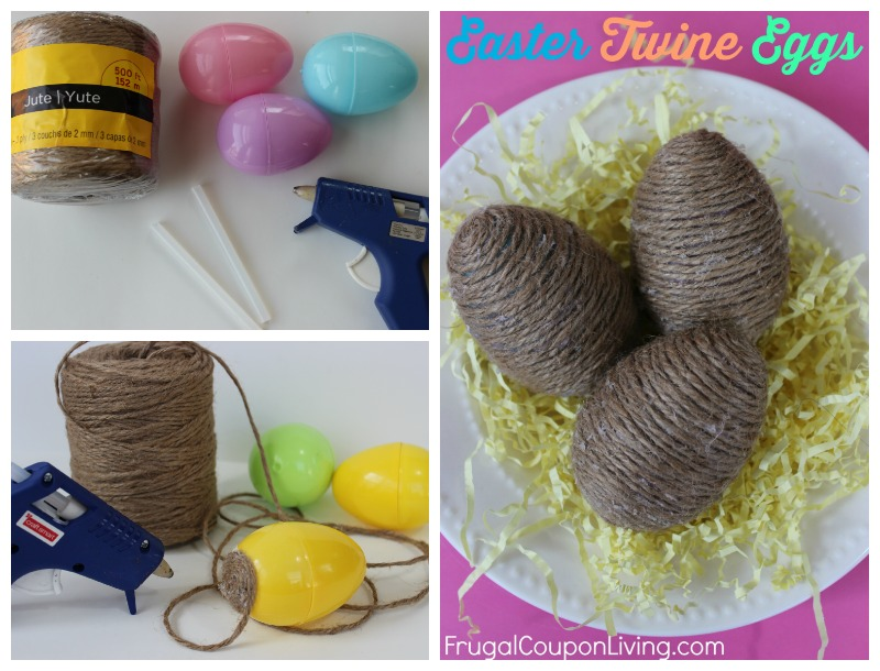 easter-twine-eggs-craft-tutorial-frugal-coupon-living-collage