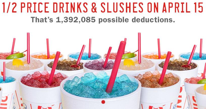Half Price Drinks and Slushies at Sonic