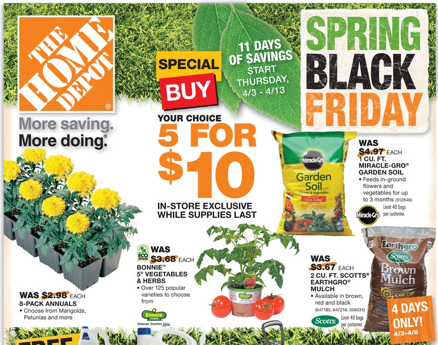 Home Depot Black Friday Spring Sale Save On Mulch Plants