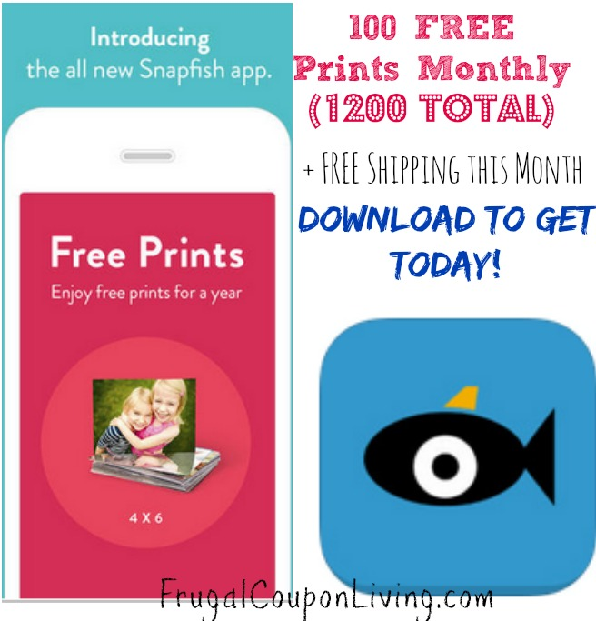 1200 free prints from snapfish free shipping 100 per month for free