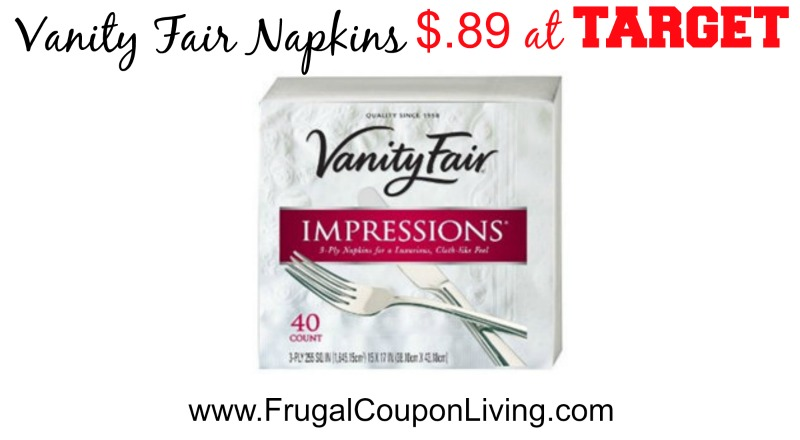 Vanity fair napkins coupons