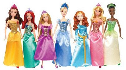 7-piece Disney Princess Doll Set
