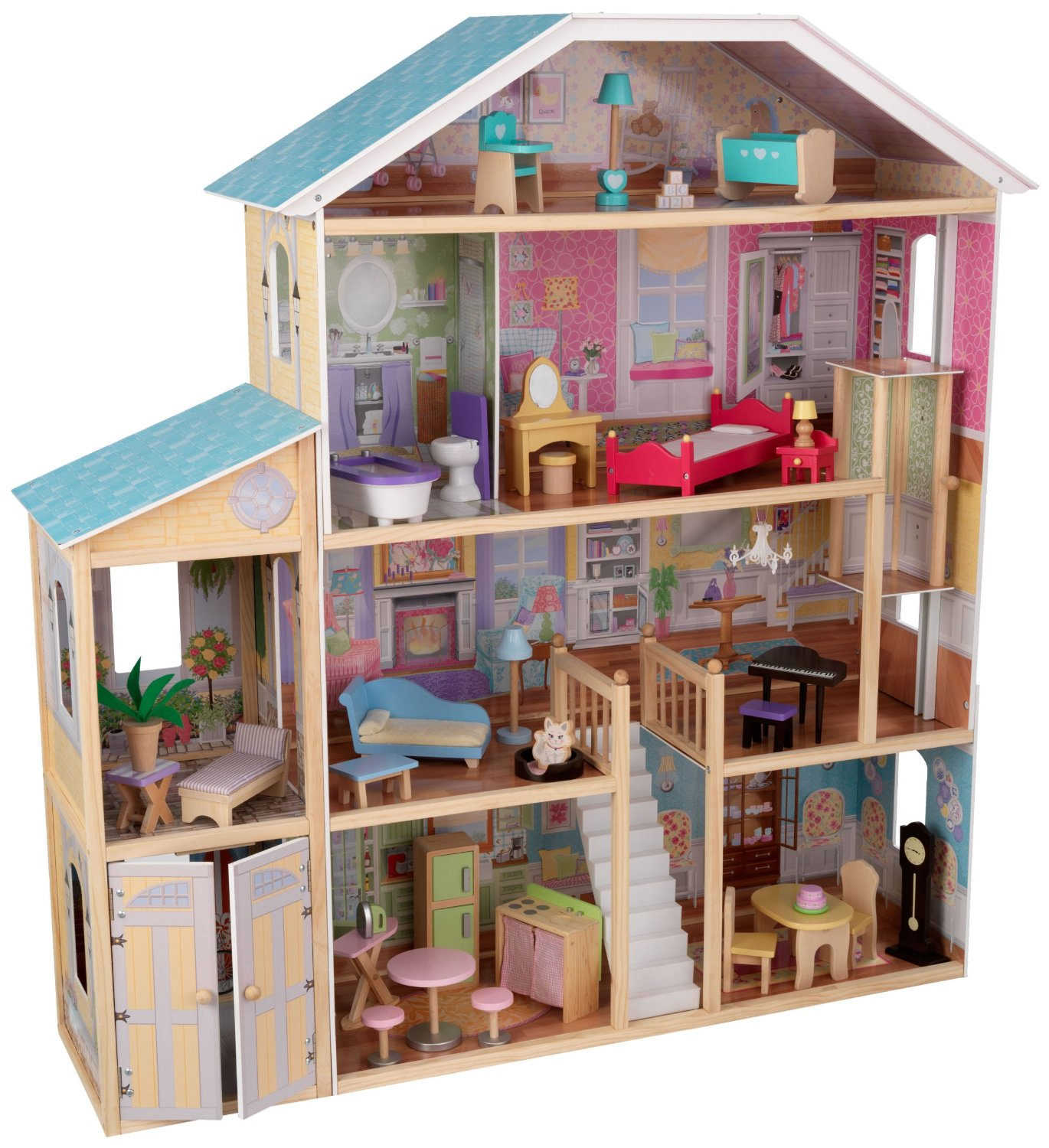 kidkraft majestic mansion dollhouse with furniture just
