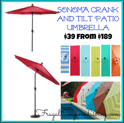 - Sonoma Outdoors 9-ft. Crank And Tilt Patio Umbrella $39.99 From $189
