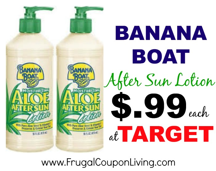 banana boat after sun lotion