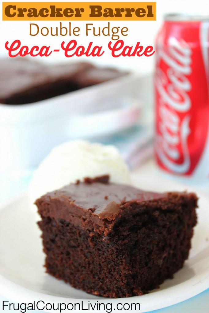Cracker Barrel Double Chocolate Fudge Coca Cola Cake Recipe