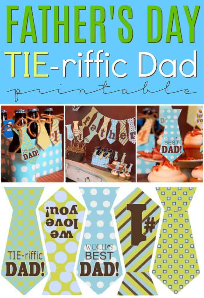 photograph about Happy Father's Day Banner Printable named No cost Tie-riffic Tie Banner for Father upon Fathers Working day
