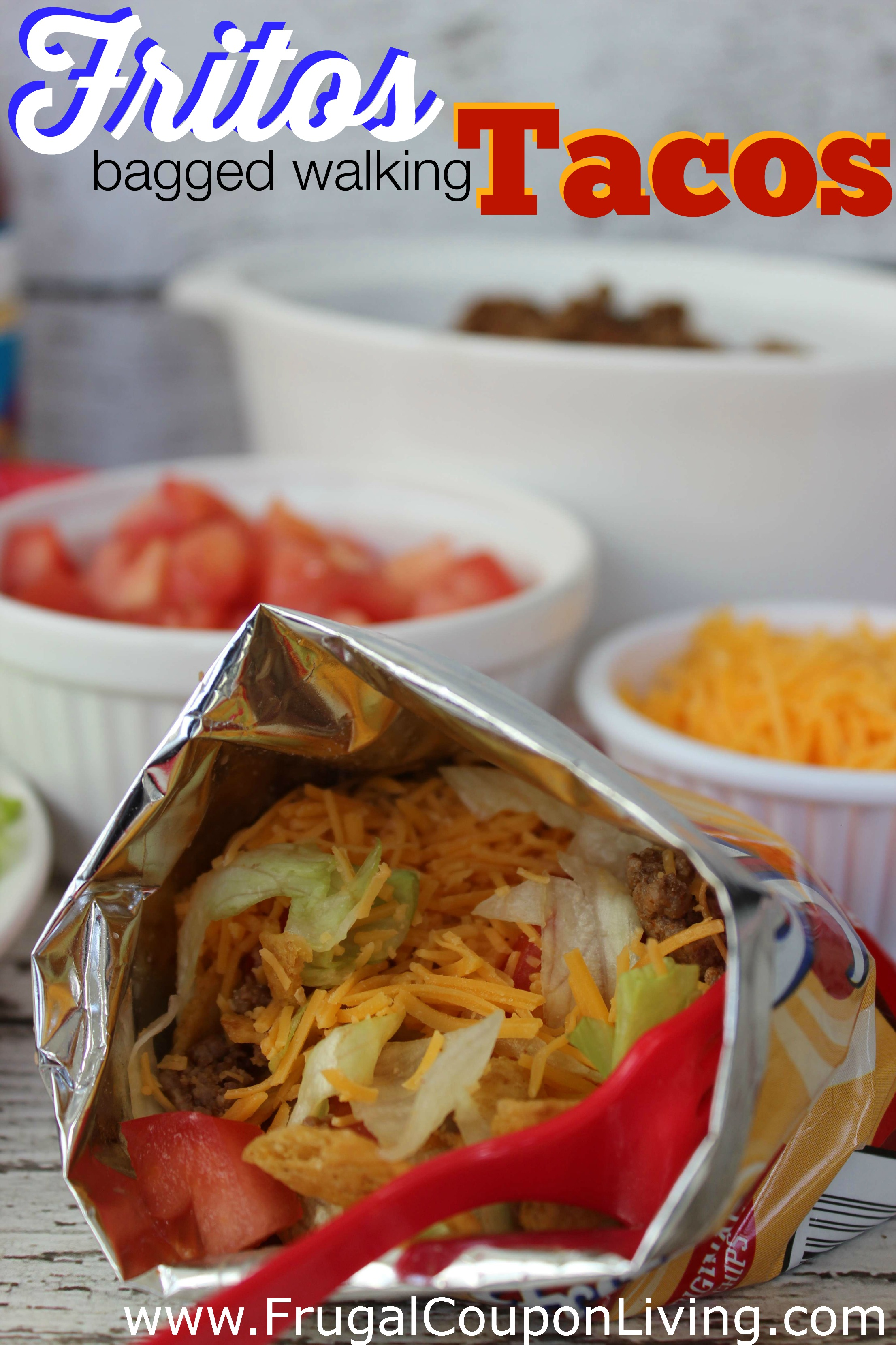 Fritos Bagged Walking Tacos Recipe - Also Use Doritos