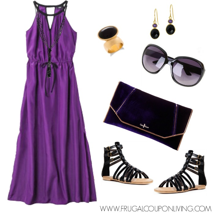 frugal fashion friday target purple dress outfit - polyvore concept
