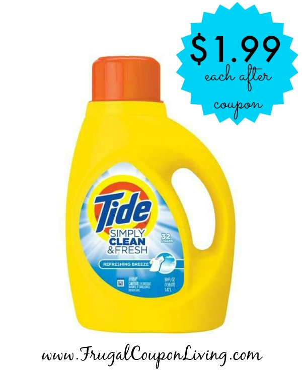 All detergent coupon deals this week