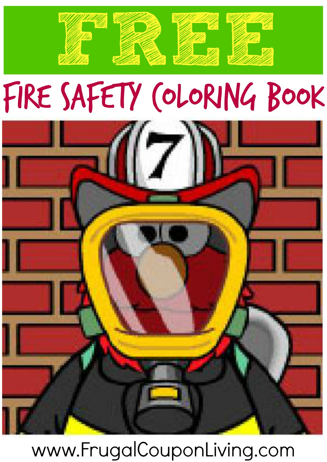 Free Fire Safety Coloring Book From Sesame Street