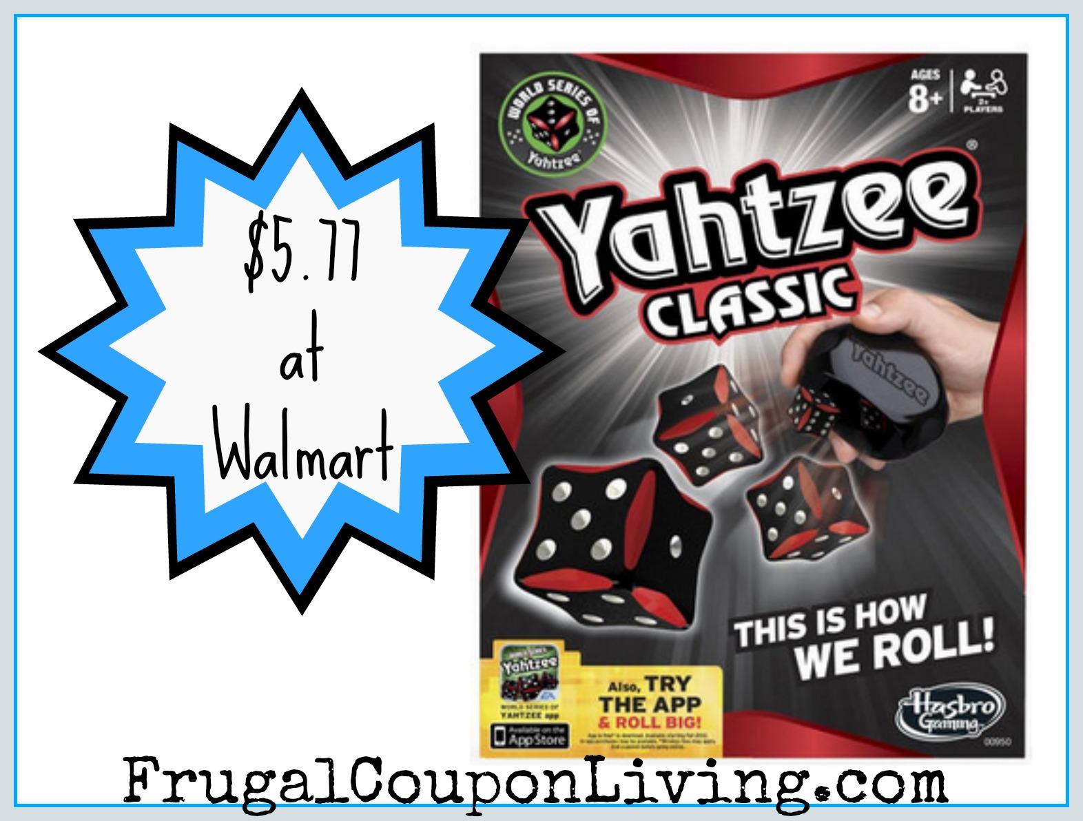 Hasbro Games Coupons Save Over $20 + Yahtzee $5.77 at Walmart
