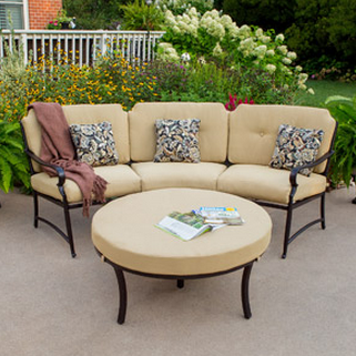 Lovely Better Homes and Gardens Paxton Place Curved Sectional Set with Ottoman OFF