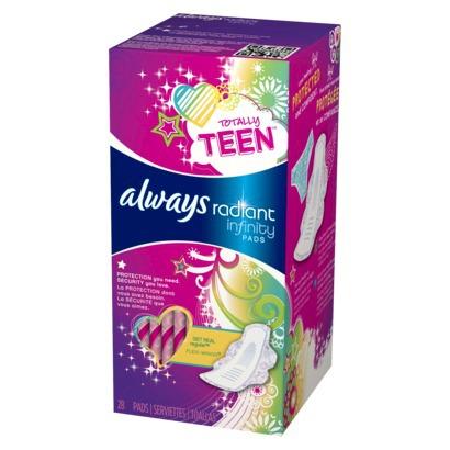 always teen pads