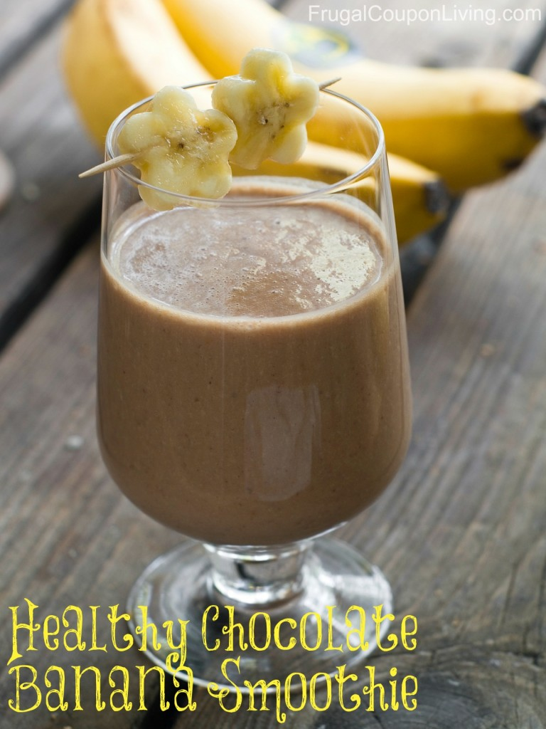 healthy chocolate banana smoothie recipe with cinnamon