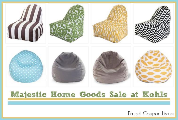 kohls chairs. HOT   Majestic Home Goods Sale Beanbag Indoor Outdoor Kick it