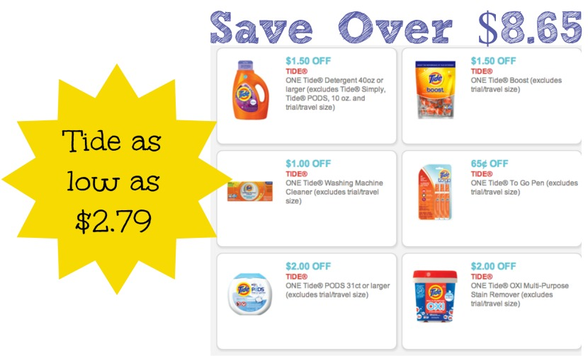 Tide coupons 2018 october